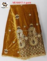 long sleeve velvet lace evening dresses of VE10017 gold