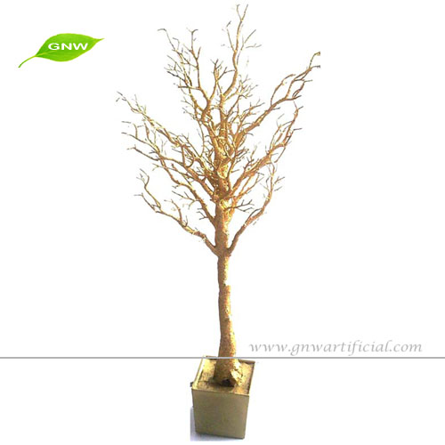 Gnw wtr artificial dry tree for decoration gold