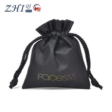 Latest ZQ-K-019 Dongguan Non-woven factory outlet BSCI cute promotinal cosmetic drawstring gift bag