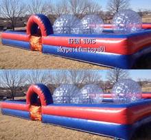 competitive bumper ball inflatable field / inflatable bumper ball pitch / bubble soccer field