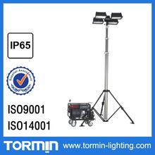 Ip65 4 x 1000 W ajustável controle remoto móvel reboque torre de luz