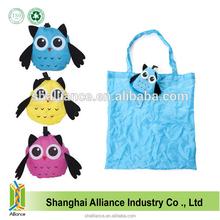 Owl Shape Fashional Animal Promotional Nylon Foldable Shopping Bag