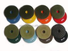 4inch Diameter diamond hand polishing pads for angle grinder