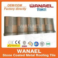 Roman Wanael thermal insulation stone coated metal roof tile for home/villa house plans