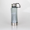 Plastic Sport Water Bottle with Drawstring and Stainless Steel Cap & Bottom