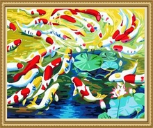 40*50cm new design oil canvas painting, fish oil painting