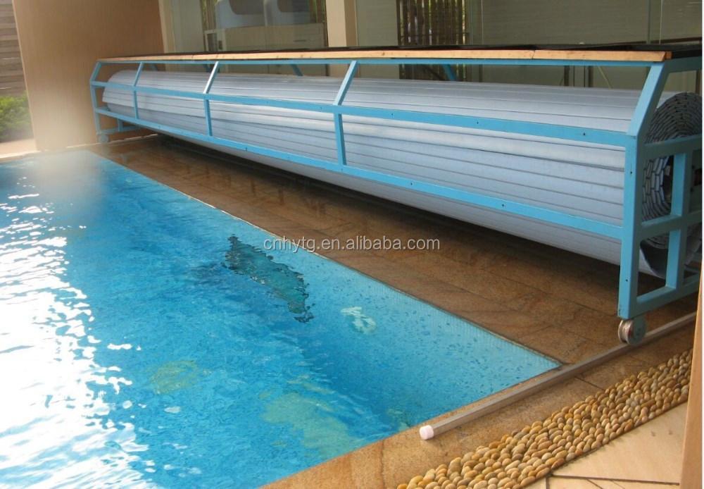 Pvc Slats Automatic Swimming Pool Cover Buy Swimming Pool Drain Cover Indoor Swimming Pool