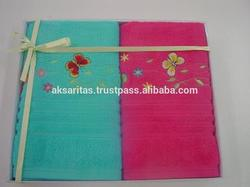 Fine Quality Embroidered Towels In Gift Box, Fashion Embroidery Towel