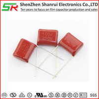 1uf,450v and pitch 15mm Miniature Metallized Polyester Film Capacitor CL21