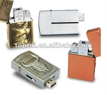 Metal Lighter USB Flash Drive with 1 to 32GB Memory Capacity, Customized Logos are Accepted, new metal usb flash drive