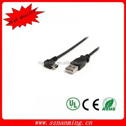 USB 2.0 to Micro USB Right Angle 90-Degree Connection Cable for Smartphone