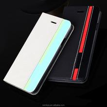 Folding Customized Mix Color Leather Phone Flip Case for Motorola Moto X Style