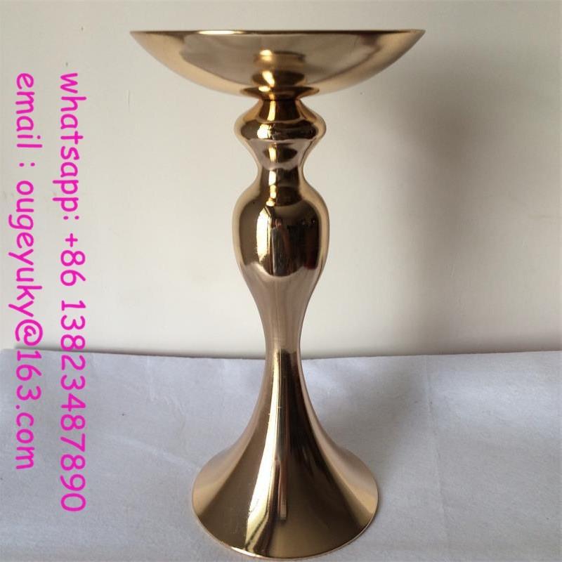 alto moldeado cristalino florero jarrn decorativo de metal para bodas centros de mesa