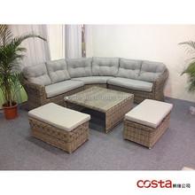 new wide rattan sofa conversation set 6pcs