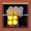 Fantásticos colores 7 eléctrica recargable luz de la vela( conjunto de 6)