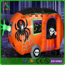 dreadful inflatable pumpkin cars with ghost for halloween ,halloween cars inflatable