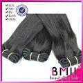 Pelo lisos negro intenso brillo natural cortinas de pelo cosido