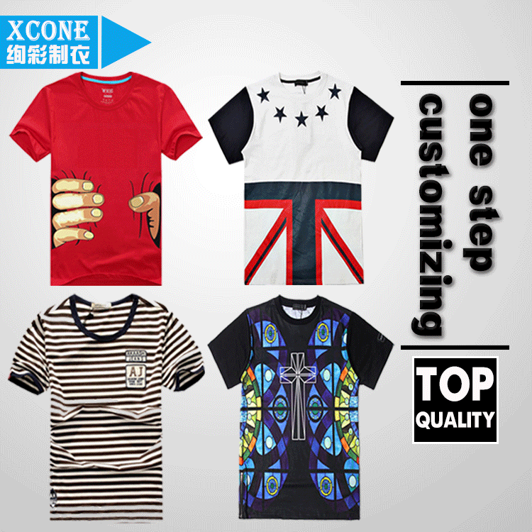 Custom t shirt printing all kinds of patterns t shirt for Custom t shirt manufacturer