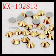 ss3 gold color crystal hotfix rhinestone,rhinestone crystals clothing accessories
