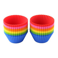 silicone baking cups, silicone cupcake liners, baking cups wholesale 24 pack