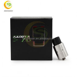 New products 2015 best selling Velocity RDA e cig mosler black Velocity RDA atomizer new version in stock 5-volt battery