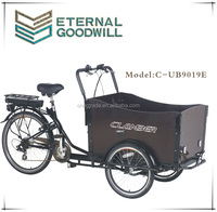 Cargo tricycle 36V 9Ah bisiklet family cargobikes electric cargo bicycle/cargobike/bakfiets UB9019E trikes