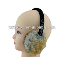 Promotional Knitted Music Fluffy Earmuff with Speaker, earmuff with earphones, music earmuffs& winter earwarmer,bluetooth