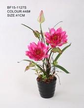 Moda fábrica grande fake lotus flower