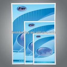 Aluminum profile snap open poster frame