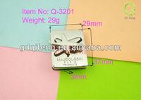 qifeng zinc alloy lock for bag or luggage q-3201 star shape metal lock