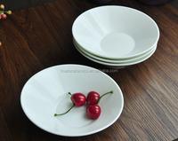 Ceramic Serving Plate, White Porcelain deep plate, High Termperature Porcelain Serving Dish for Hotel & Restaurant