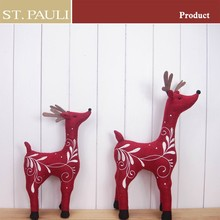 14 Inch Factory Custom Red Christmas deer