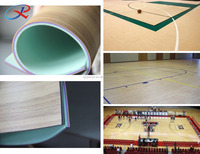 Professional indoor basketball court vinyl floor with maple color
