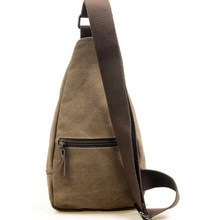 Korean version of casual men's pockets male chest pack sports canvas bags multifunction outdoor small bag wave packet