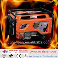 Factory price 2kw Portable Power gasoline generators with Wheel kits