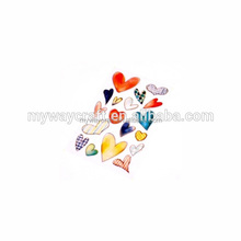 heart number shaped clear crystal 3D epoxy sticker