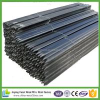 alibaba website 2.04kgs/m black bituman steel fence Y post