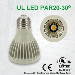 5 years warranty UL ES listed AC100-277V 8W PAR20 Dimmable led par20 spotlights