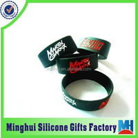 martin garrix engraved color filled silicone wristband
