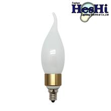 Hot sale design aluminum+glass 3W led candle light bulb E14