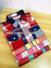 dos bolsillos con solapas camisas de cuadros para las mujeres
