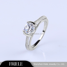 China Wholesale Silver Rings Fashion Micro Pave Silver Ring Gold Plated