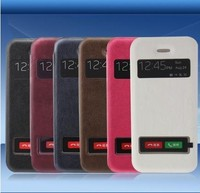 Real Leather Mobile Phone Flip Case for Iphone4/4s,Cowhide Leather