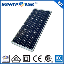 Great reputation and hot sale high efficiency lower price solar panel 120 watt