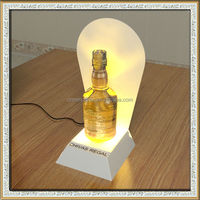 LED bottle display stand,wine bottle display stand with led, illuminated acrylic wine display racks