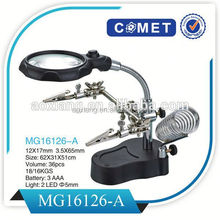 Best selling MG16126-A lamp magnifier,desktop electronic magnifier visual aids