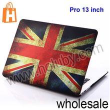 UK US Flag Flip Leather Case for Macbook Pro 13 inch