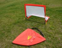Fiber glass pole square training soccer goal foldable football door