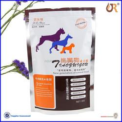 Accept Custom zipper plastic bag for pet food