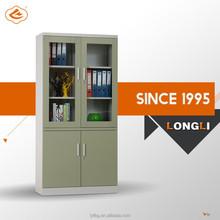 DIY EASY TO ASSEMBLE glass door display cabinet, steel filing cabinet